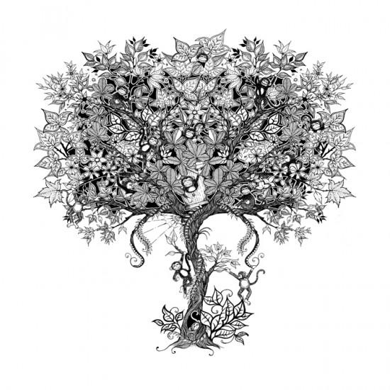 Ver tema dibujos para colorear y desestresar brete for El jardin secreto johanna basford